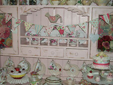 SHABBY CHIC WOODEN BUNTING MADE USING CATH KIDSTON DESIGN DRESSER DISPLAY PARTY