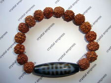 FENG SHUI - WEALTH & LONGEVITY DZI WITH MUKHI RUDRAKSHA