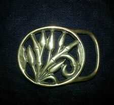 Vintage 1965-1976's Solid Brass Belt Buckle. Nature. Hippie.