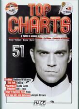 TOP CHARTS 51 - 5 Hefte in einem : Hage Musikverlag Gesang, Klavier mit CD