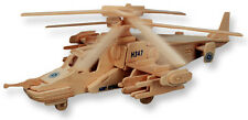 "3-D Wooden Puzzle - Black Shark Helicopter Model -Gift Item ""Brand New"""