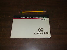 1992 LEXUS ES300 ES 300 owners Manual Manuals OEM