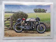 NOSTALGIC NORTON 500CC MANX 1962 MOTO Design Buon Compleanno Scheda