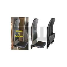 HIGHBACK BLACK VINYL PASSENGER FLIP, JUMP SEAT,STEPVAN,GRUMMAN,UTILIMASTER