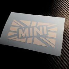 WHITE MINI Union Jack Car Sticker Decal Cooper Classic GB British