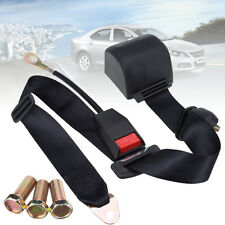 Retractable Adjustable Auto Car Universal 3 Point Seat Lap Belt With 3 Bolt