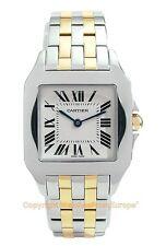 CARTIER Santos Demoiselle Large Steel/18k Watch W25067Z6 Box/Papers Retail $7200