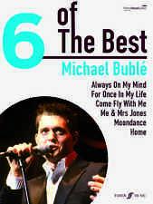 6 de la mejor Michael Buble Play Home Moondance Hits Pop Piano Música De Guitarra Libro