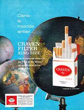 PUBLICITE ADVERTISING  1964   CRAVEN A  cigarettes