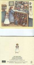 VINTAGE VICTORIAN OLD FASHIONED GIRL TOY PENNY CANDY STORE COUNTRY SHOP ART CARD