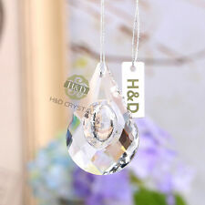 Clear Chandelier Glass Crystal Lamp Prisms Parts Hanging Drop Block Pendant 50mm