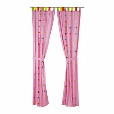 IKEA Festlig 120x300cm Children's Curtains w/ tie-backs, Pink + PRIZE CHANCE!