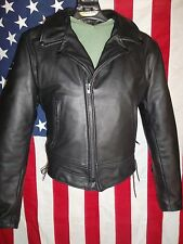 Taylor's Leatherwear motorcycle Jacket-Police Style-Side Lace-Chest 40-NEW!