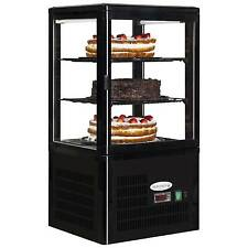 NEW COUNTERTOP REFRIGERATED GLASS CAKE PATISSERIE DISPLAY TEFCOLD UPD 60