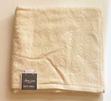 """NEW SHEER LUXE BEIGE,TAN COTTON HIGHLY ABSORBENT BATH TOWEL-28"""" X 52"""""""
