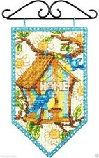 "Dimensions Counted Cross Stitch Kit 5"" x 8"" ~ SPRING BANNER #72-74133 Sale"