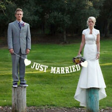 Photo Booth Props Just Married Wedding Decoration Bunting Garland Banner Decor