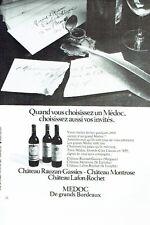PUBLICITE ADVERTISING 017  1973  vin Chateau Rauzan Gassies Montrose lafon Médoc