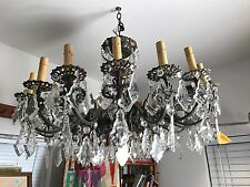 Beautiful Brass Spanish Italian Antique Chandelier Vintage LOS ANGELES CA 90066