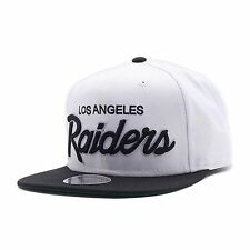 NFL MITCHELL & NESS LOS ANGELES RAIDERS SNAPBACK CAP HAT WHITE/BLACK