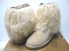 Ugg Sheepskin Cuff Short Sand/Natural Women Boots US8/UK6.5/EU39/JP25