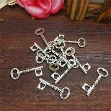 New Charm 8pcs Atrial Key Tibet Silver Pendant Fit for Bracelet Necklace PJA27