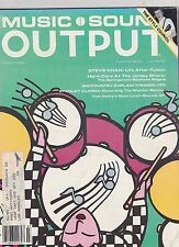 MARCH 1984 MUSIC SOUND OUTPUT vintage magazine STEVE KHAN life after FUSION