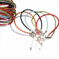 36pcs Wholesale Mxed Colors Faux Leather Plait Bracelets Lobster Clasp Cords J