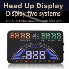 5.8'' OBDII & GPS HUD Head Up Display MPH Speeding Warning Windshield Projector