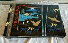 Vintage Japanese Photo Album With Music Box Wooden Japan musical movement
