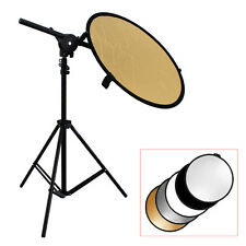 Studio Photo Kit Reflector Bracket Arm + Light Stand + 5in1 60cm Reflector Disc