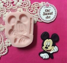 Mickey Mouse III Disney silicone mold fondant cake decorating wax soap jewel