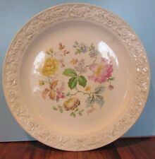 "9"" Vintage The Harker Pottery Co USA Flowers Porcelain Plate"