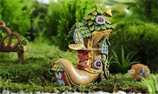 Miniature Enchanted Forest Boot / Shoe House 706468 Fairy Dollhouse Gnome Garden