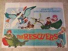 THE RESCUERS movie poster WALT DISNEY original UK quad