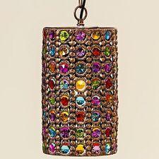 Plafonnier Pinza 33x21cm multicolore Cylindre Lampe Orient Cristal Lustre en