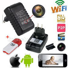 WIFI HD 1080P SPY Hidden Wall Charger IP Camera Adapter DVR Video Recorders Cam