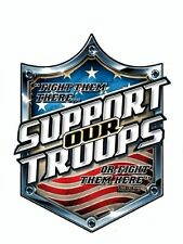 Patriotic SUPPORT OUR TROOPS MILITARY Army  VINYL STICKER/DECAL By 7.62 Design