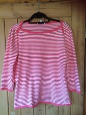 Laura Ashley Women's Striped Jumper Size 18 Immaculate