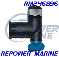 Drain Elbow with Blue Tap for Mercruiser Exhaust Manifolds, Repl: 22-862210A01