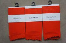 Calvin Klein Womens Socks One Size Poppy Mesh Crochet Anklet 3 Pairs ACV511
