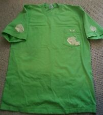 Women's Lime Green T-Shirt 100% Cotton Decorated with Sea Shell Iron Ons