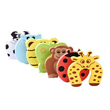 6x Baby Safety Foam Door Jammer Guard Finger Protector Stoppers - Animal Designs