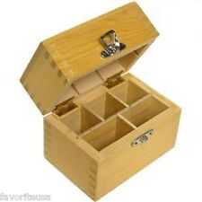WOOD BOX 5 COMPARTMENTS HOLDS 3 GOLD SILVER TESTING ACIDS ARKANSAS STONE NEEDLES