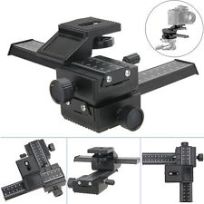 Black 4 Way Macro Shot Focusing Rail Metal Slider for Nikon Peantax DSLR Camera