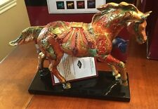 GOLDEN FEATHER PONY, Trail Of Painted Ponies,1E 4779,NEW Resin Figurine,Box,Tag.