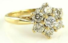 Splendido 18ct ORO 1.00ct Diamante Grappolo Anello (P) 4.42g 18k 750
