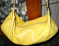ESCADA fatto a mano Eluna Hobo Handbag Bag Purse Hobo Stile Giallo/Limone