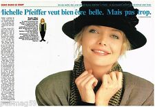 Coupure de presse Clipping 1989 (2 pages) Michelle Pfeiffer