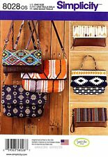Simplicity Sewing Pattern 8028 Bags Purse Handbag Clutch Wristlet